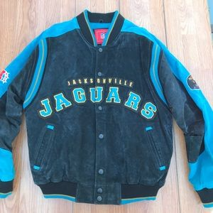 Jacksonville Jaguars Suede Leather Jacket NFL coat